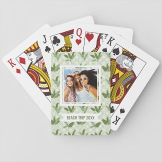 Add Your Name | Tropical Palm Leaves Playing Cards