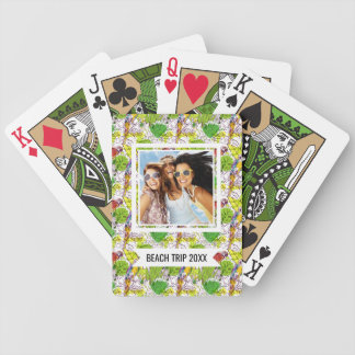 Add Your Name   Tropical Parrots Bicycle Playing Cards