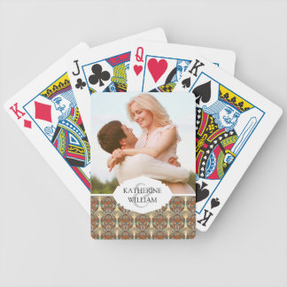 Add Your Name | Turtle Floral Pattern Bicycle Playing Cards