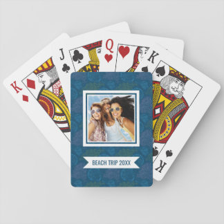 Add Your Name | Vintage Sea Pattern Playing Cards