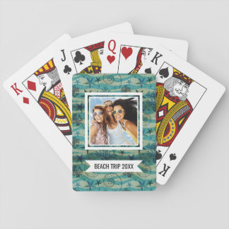 Add Your Name | Vintage Shells And Starfish Playing Cards