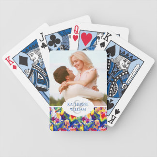 Add Your Name   Watercolor Parrots Poker Deck