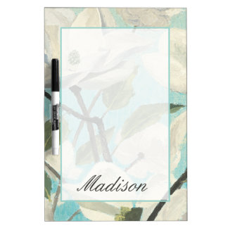 Add Your Name | White Blossoms from the South Dry Erase Board