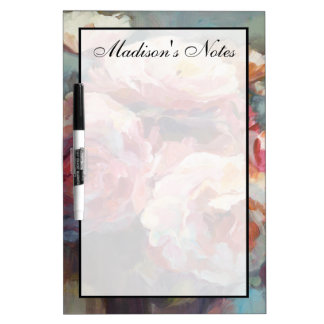 Add Your Name   Wild Pink Roses Dry Erase Board