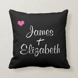 Add Your Names True Love Couple Decorative Pillow Cushion