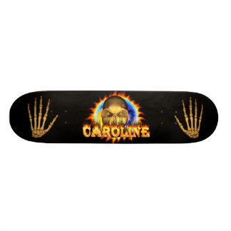 Add your own custom text and images to this skull skateboard decks