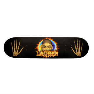 Add your own custom text and images to this skull skate board decks