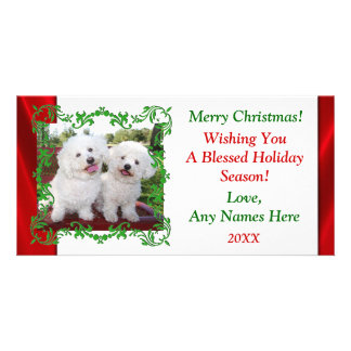 Add Your Own Cute Photo Christmas Holiday Card Photo Greeting Card