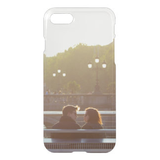 Add your own engagement save the date couple clear iPhone 7 case