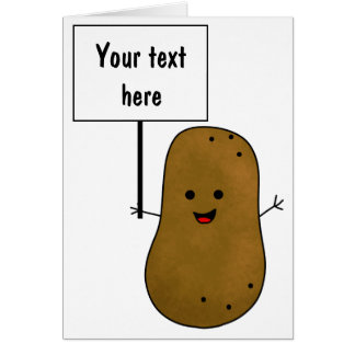 Add Your Own Message, Potato Card