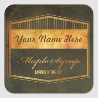 Add Your Own Name Brand Maple Syrup Label Sticker