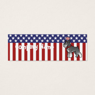 Add Your Own Pet and Flag Mini Business Card