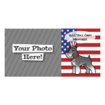 Add Your Own Pet and Flag Photo Greeting Card