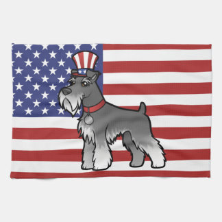 Add Your Own Pet and Flag Tea Towel