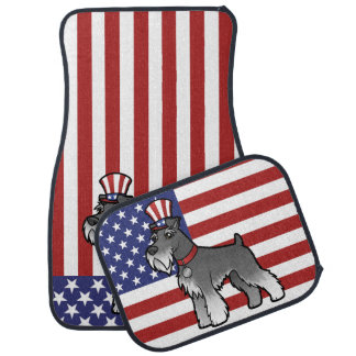 Add Your Own Pet and Flag Car Mat