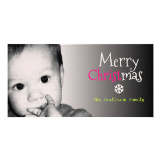 Add Your Own Photo and Custom Name Christmas - Photo Card Template