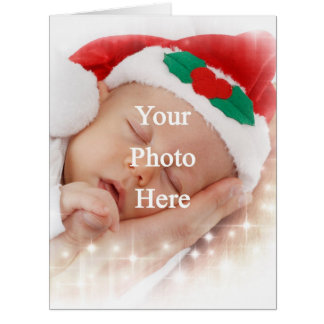 Add your own photo big greeting card