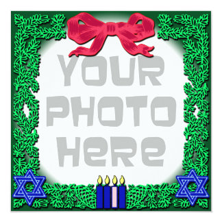Add Your Own Photo Christmas / Hanukkah Card 13 Cm X 13 Cm Square Invitation Card