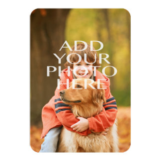 Add Your Own Photo Custom Personalized 9 Cm X 13 Cm Invitation Card
