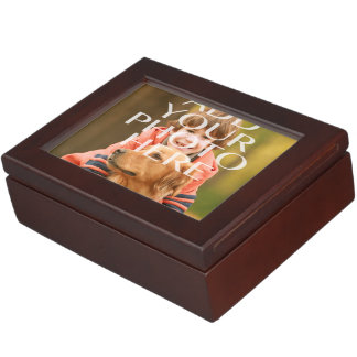 Add Your Own Photo Custom Personalized Keepsake Box