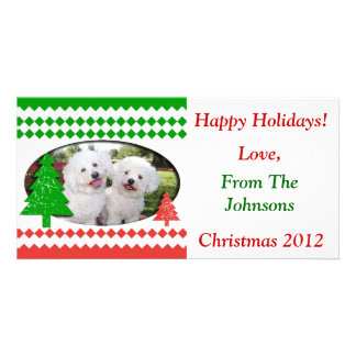Add Your Own Photo Cute Holiday Card Customized Photo Card