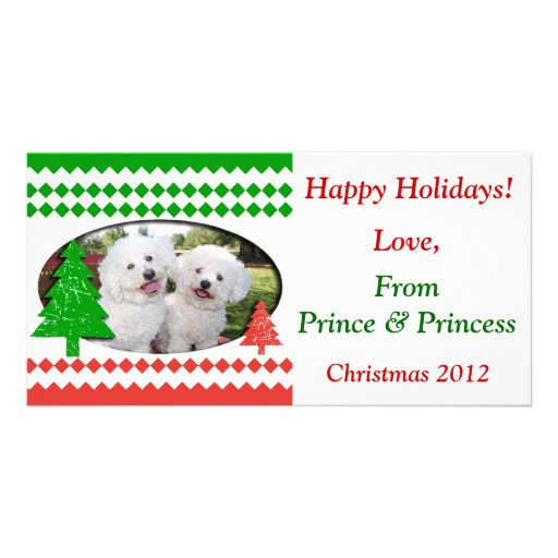 Add Your Own Photo Cute Holiday Card Custom Photo Card