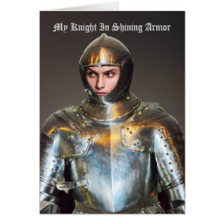 Add Your Own Photo - Funny Knight In Shining Card