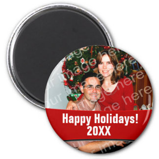 Add Your Own Photo Happy Holidays Custom Magnets