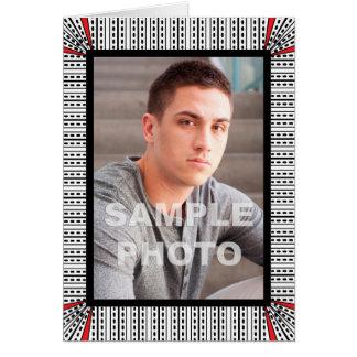 Add Your Own Photo Portrait Modern Geometric Card