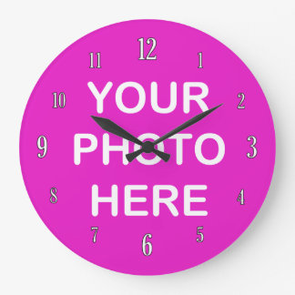 Add your own photo wallclocks