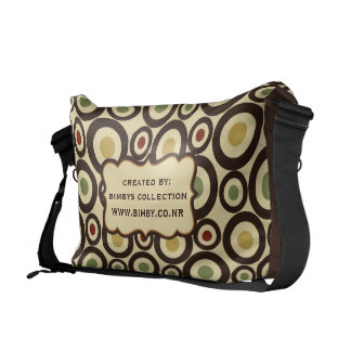 Add Your Own text Circle Pattern Messenger Bag