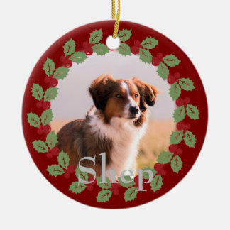 Add Your Own Text & Photo Custom Ornament