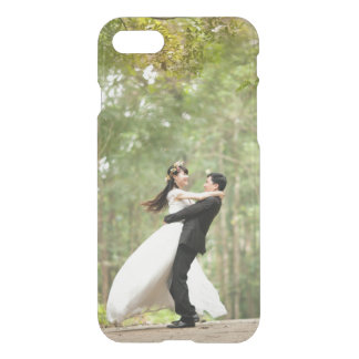 Add your own wedding or engagement photo clear iPhone 7 case