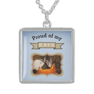 Add Your Pet Rats Photo Rat Sterling Silver Necklace