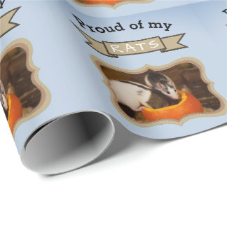 Add Your Pet Rats Photo Rat Wrapping Paper