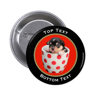 Add Your Photo and Text Custom 6 Cm Round Badge