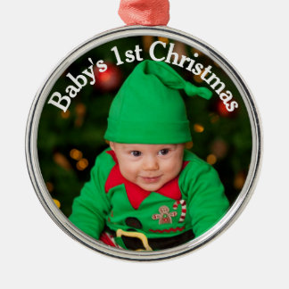 Add Your Photo (Baby's 1st Christmas) Ornament