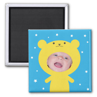 Add Your Photo Bear Frame Magnet
