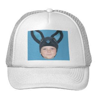 Add Your Photo Blue Bunny Ears Trucker Hat