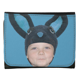 Add Your Photo Blue Bunny Ears Wallet