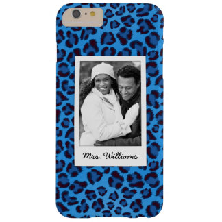 Add Your Photo | Blue Leopard Texture Barely There iPhone 6 Plus Case
