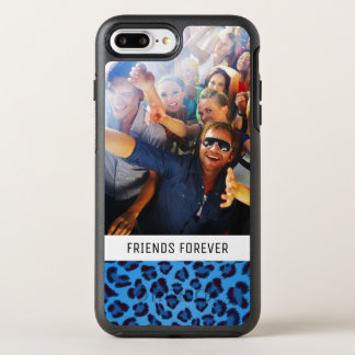 Add Your Photo | Blue Leopard Texture OtterBox Symmetry iPhone 8 Plus/7 Plus Case
