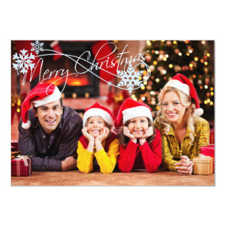 Add Your Photo Christmas Card 13 Cm X 18 Cm Invitation Card