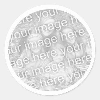 Add  Your Photo Classic Round Sticker