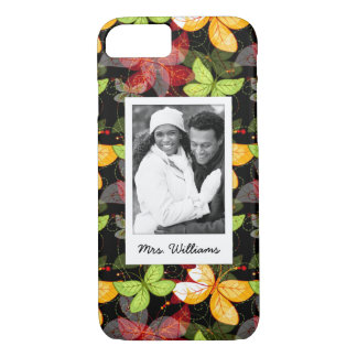 Add Your Photo | Dark Autumn Pattern iPhone 8/7 Case