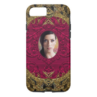 Add Your Photo Elegant Girly Chic Hot Damask iPhone 8/7 Case