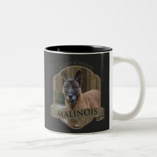 Add your Photo Malinois - Belgian shepherd - Two-Tone Coffee Mug