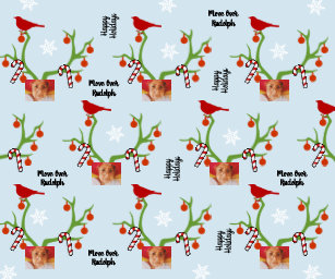 add your photo move over rudolph funny christmas wrapping paper - Funny Christmas Wrapping Paper