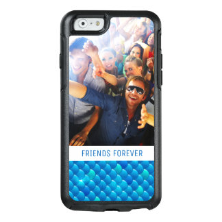 Add Your Photo | Neon Blue Fish Scales OtterBox iPhone 6/6s Case
