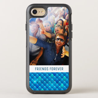 Add Your Photo | Neon Blue Fish Scales OtterBox Symmetry iPhone 8/7 Case